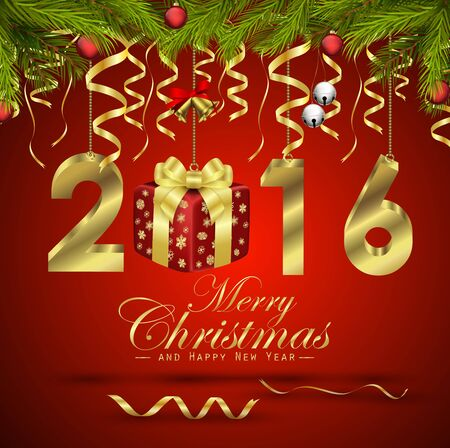 merry christmas: Merry Christmas and Happy New Year background