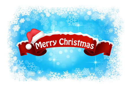 Merry christmas abstract background banner Çizim