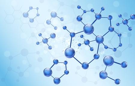 molecular science: Molecule illustration background