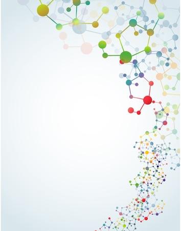 Multicolored molecular background
