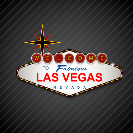 casino roulette: Las Vegas Casino Sign background Stock Photo