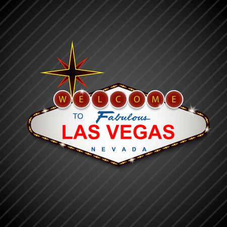 vegas strip: Las Vegas Casino Sign background Illustration