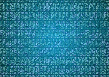 binary background: Technology binary background. Binary on blue background