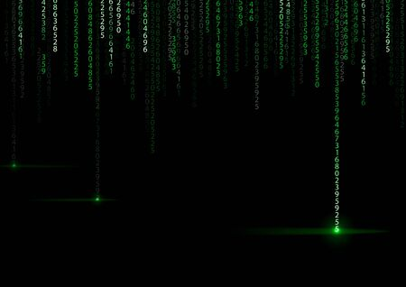 binary background: Technology binary background. Binary on green background Stock Photo