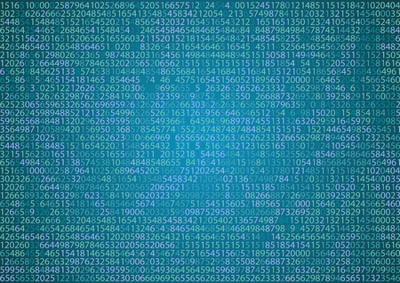 binary background: Technology binary background. Binary on blue background