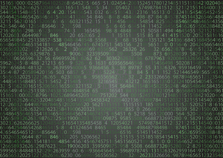 computer code: Technology binary background. Binary on green background Illustration