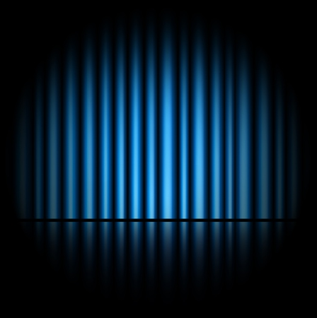 curtain background: Curtain of blue background Stock Photo