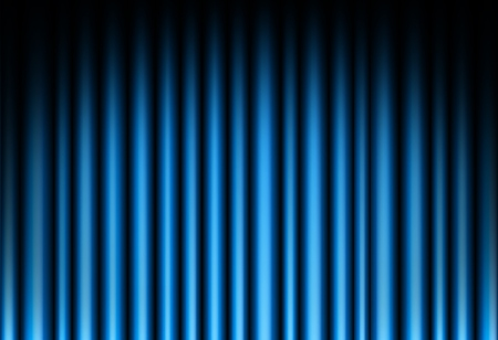 film production: Curtain of blue background Illustration