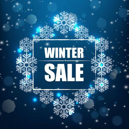winter sale: Winter sale banner background