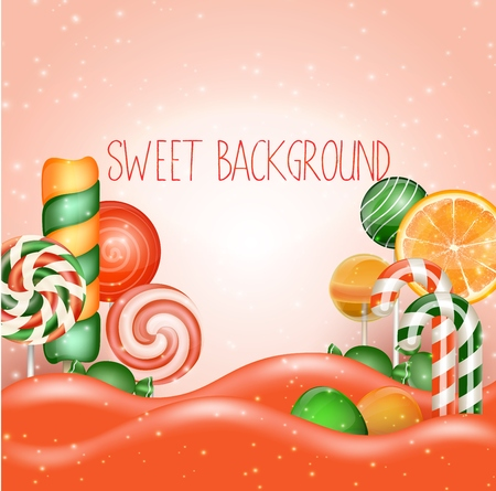 Candy land background Illustration