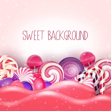 dream land: Candy of pink land background