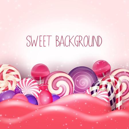 caramelos: Caramelo de color rosa de fondo de la tierra