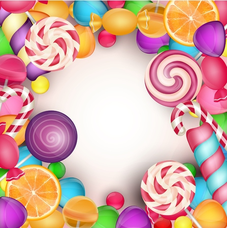 gummy: Colorful candy background Illustration