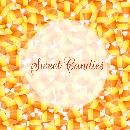 candy corn: A close up background pile of candy corn Illustration