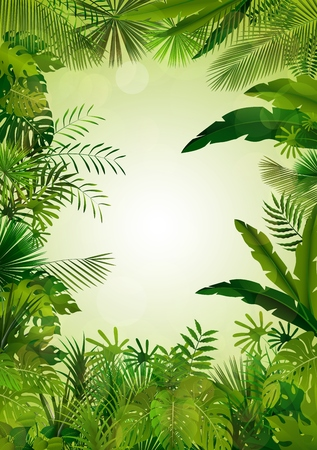 tree grass: Exotic tropical background Stock Photo