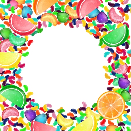 jelly: Colorful candy background with jelly beans, and jelly candies