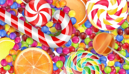 pile: Sweets background with a pile candy