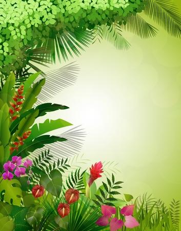 Esotico sfondo tropicale