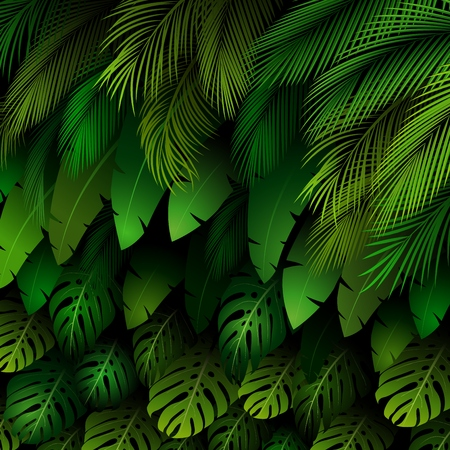 banana leaves: Exotic pattern with tropical leaves background Stock Photo