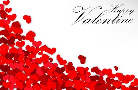 Valentine heart on a white background Vektorové ilustrace