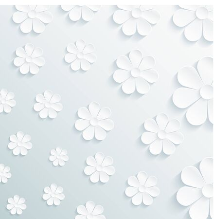 daisy flower: Seamless pattern daisy on gray background