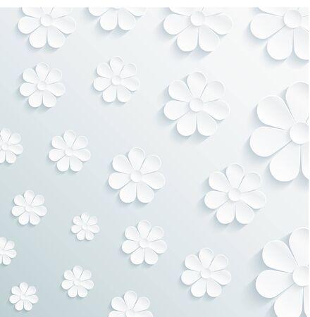 Seamless pattern daisy on gray background