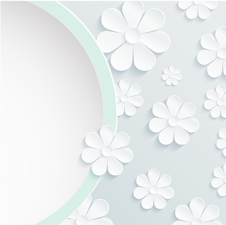 daisy wheel: Beautiful wreath of spring flowers, white daisies Stock Photo