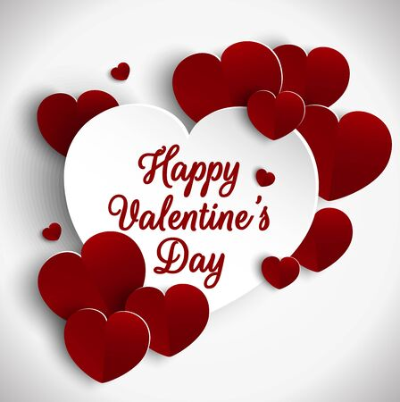 cut paper: Valentines day background with cut paper heart