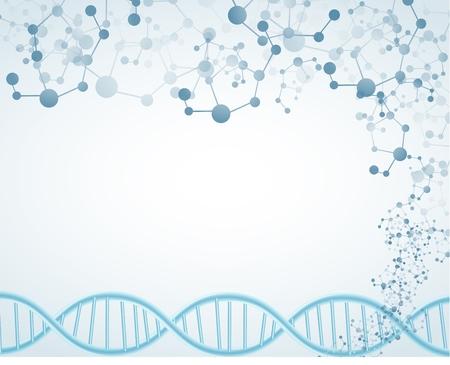 Science on isolated background with DNA theme and molecular Vektoros illusztráció