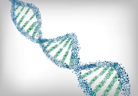 blue green background: DNA green blue background