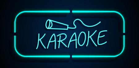 karaoke singer: Neon sign karaoke