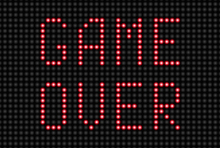 the game is over: Game Over Message
