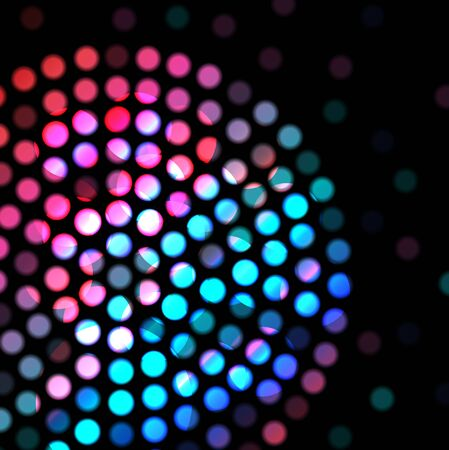 selectively: Color circle on a black background Stock Photo