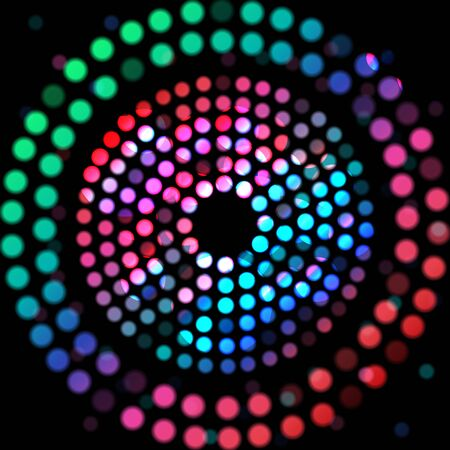 spectra: Color circle on a black background Stock Photo