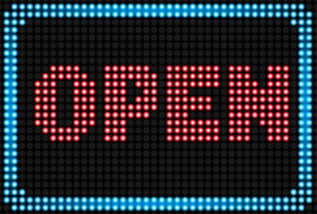 neon sign: Open neon sign background