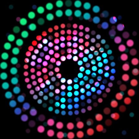 selectively: Color circle on a black background Illustration