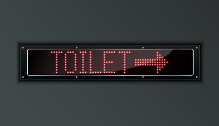 urinating: Toilet LED digital Sign