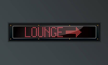 arow: VIP Lounge arow LED digital Sign