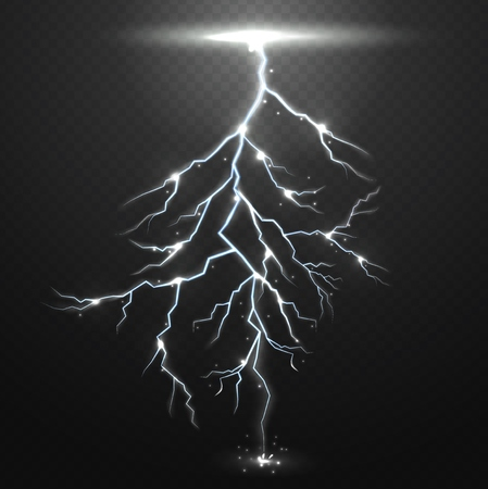 zapping: Lightning on black background with transparency for design