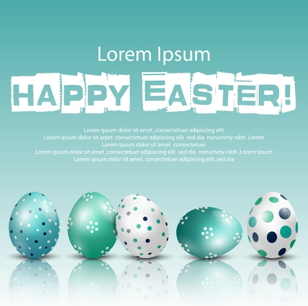Happy Easter Background with eggs of shadow Stockfoto