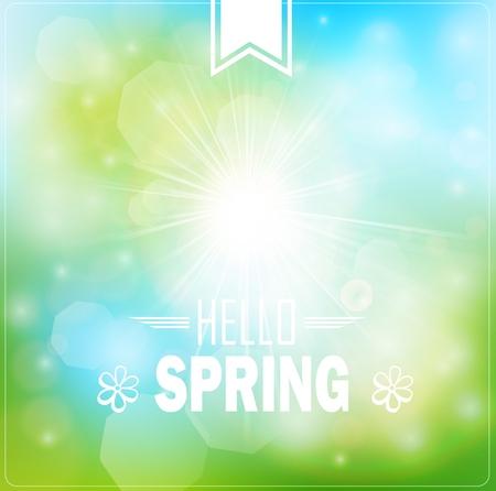 spring: Spring Typography Poster or Greeting Card Design