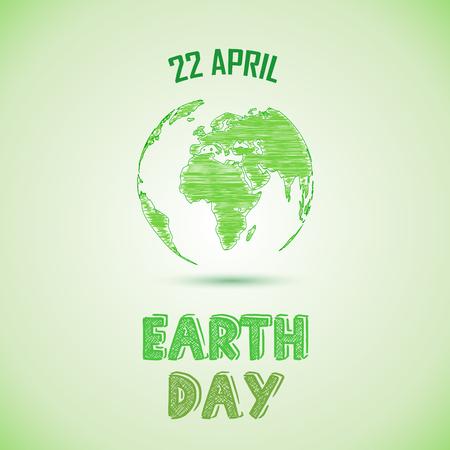 planeta verde: Fondo del día de la tierra verde Vectores