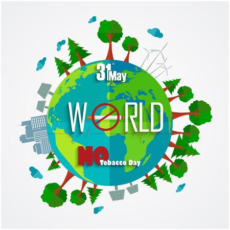 31: 31 May World No Tobacco Day background