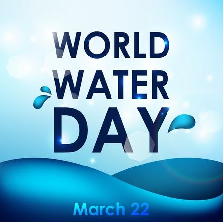 Dia Mundial del Agua Ilustración de vector
