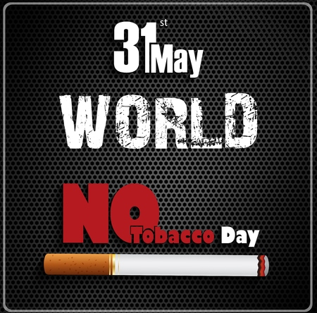31st: May 31st World No tobacco day on black background