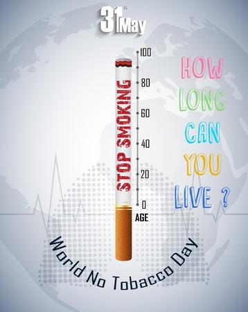 anti tobacco: World No Tobacco Day Stop smoking idea concept