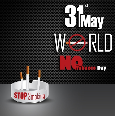 ashtray: Ashtray with cigarettes for 31st May world No tobacco day
