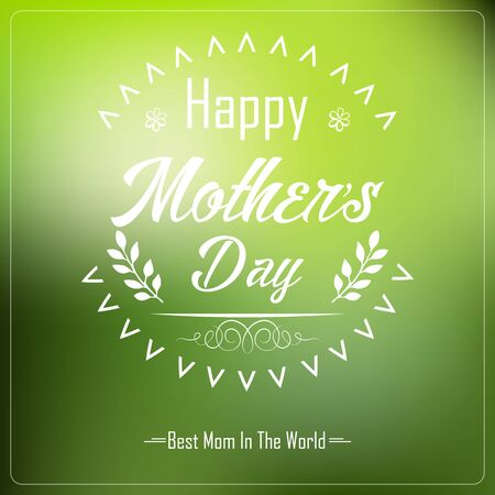 typographical: Happy Motherss Day Typographical Background