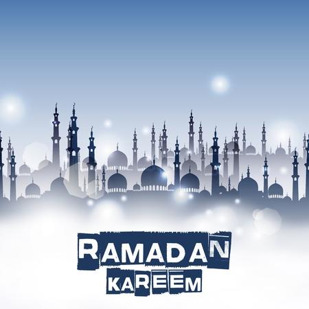ramzaan: Ramadan kareem with mosque