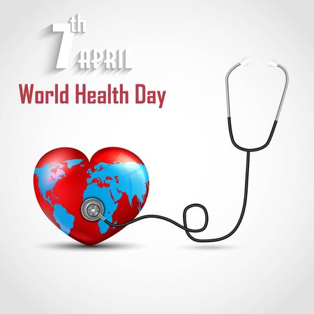 medicate: World health day concept with DNA and globe inside a heart